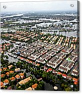 Erial View Of Flood Waters Affecting An Acrylic Print