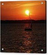 Erie Basin Sunset 3579 Acrylic Print