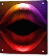 Erotic Lips Acrylic Print