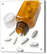 Erythromycin Antibiotic Pills Acrylic Print