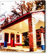 Esso Filling Station Acrylic Print