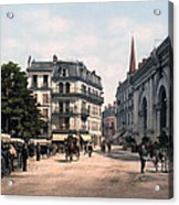 Etablissement Thermal - Aix France Acrylic Print by International  Images