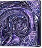 Eternal Depth Of Abstract And Chrome Fx  Acrylic Print