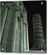 Ethereal Moonlight Scene Of Duomo Santa Acrylic Print