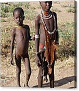 Ethiopia-south Tribesman Boy And Sister No.1 Acrylic Print