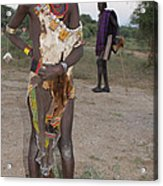 Ethiopia-south Tribesman Boy No.3 Acrylic Print