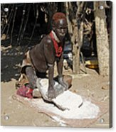 Ethiopia-south Tribesman No.1 Acrylic Print