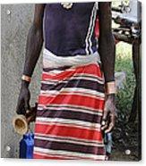 Ethiopia-south Tribesman No.3 Acrylic Print