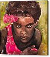 Etiopien Girl Acrylic Print