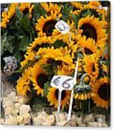 European Markets - Sunflowers And Roses Acrylic Print