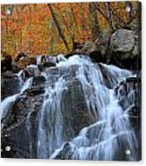 Evans Notch Waterfall Acrylic Print