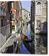 Even A Gondolier Has To Take A Break Acrylic Print