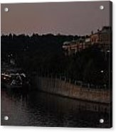 Evening Along The Vlitava Acrylic Print
