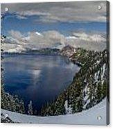 Evening At Crater Lake Panorama Acrylic Print