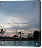 Evening At The Pool Acrylic Print