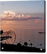 Evening Bell. Sunset On Valaam Island. Northern Russia Acrylic Print