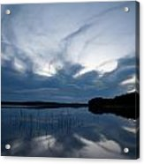 Evening Clouds Over Haukkajarvi Acrylic Print