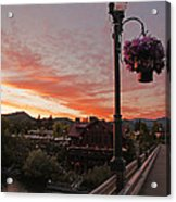 Evening Color Over Taprock Acrylic Print