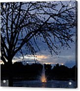Evening Falls On Youth's Fountain Acrylic Print