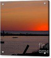Evening Harbor Silhouette Acrylic Print