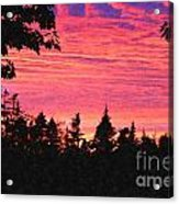 Evening In Paradise Painterly Style Acrylic Print