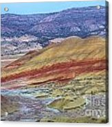 Evening In The Painted Hills Acrylic Print