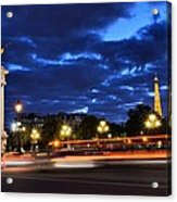 Evening Light At The Eiffel Tower Acrylic Print