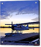 Evening Light On A Dehavilland Beaver- Abstract Acrylic Print by Tim Grams