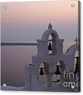Santorini Greece Evening Light  Acrylic Print