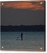 Evening Paddleboarder Acrylic Print