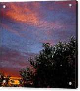 Evening Sky In Palm Desert California Acrylic Print