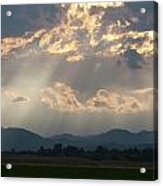 Evening Storm Clouds Acrylic Print