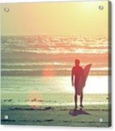 Evening Surfer Acrylic Print