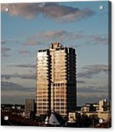 Evening View Of Murray John Tower In Swindon Acrylic Print by Nick Temple-Fry