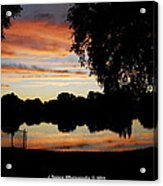Evenings On The Water  Acrylic Print