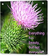Everything Has Beauty Acrylic Print