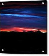 Evil Blue Sky Acrylic Print by Kevin Bone