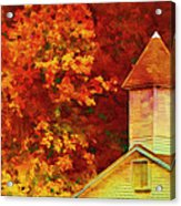 Exaggerated Fall Acrylic Print