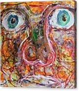 Exhibit Shocked Acrylic Print by Shadrach Ensor