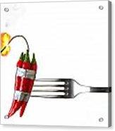 Explosive Food Acrylic Print