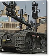 Explosive Ordnance Disposal Robot Used Acrylic Print