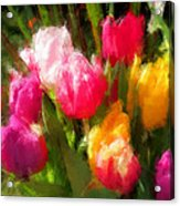 Expressionistic Spring Tulip Explosion Acrylic Print