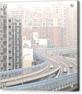 Expressway Through City Acrylic Print