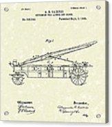 Extension Fire Ladder 1895 Patent Art Acrylic Print