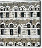Exterior Of Ornate Mud House, Close Up Acrylic Print