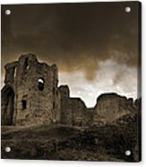 Exterior Of The Ruins Of Denhigh Castle Acrylic Print