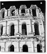 External View Of Three Upper Tiers Of Archways Of Old Roman Colloseum El Jem Tunisia Acrylic Print