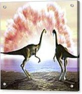 Extinction Of The Dinosaurs, Artwork Acrylic Print by Jose Antonio PeÑas