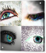 Eye Art Collage Acrylic Print