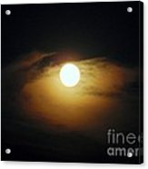 Eye Moon Acrylic Print by Mariana Robu